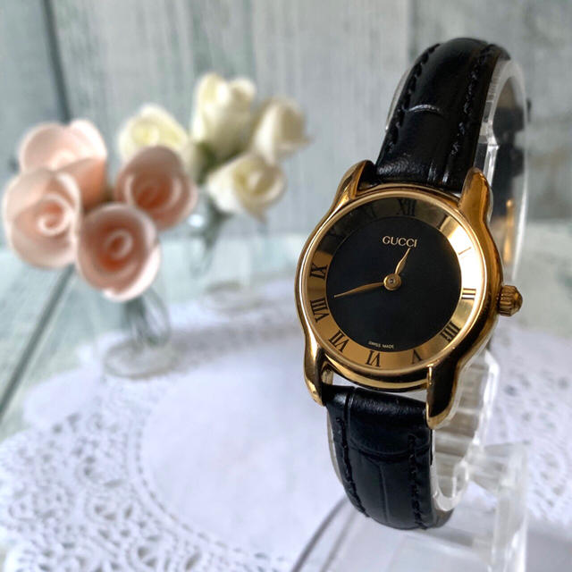 hベルト 新品 | Gucci - 【電池交換済み】GUCCI グッチ 5100L 腕時計 ブラック ゴールドの通販 by soga's shop