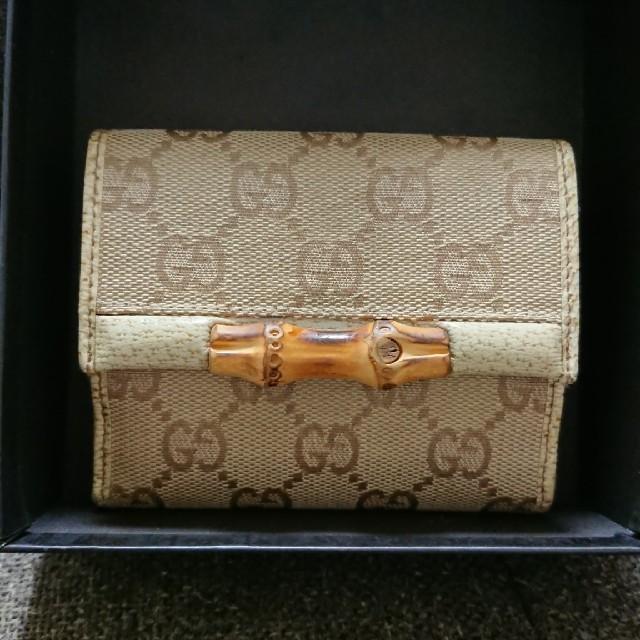 aquos crystal x アクセサリー | Gucci - GUCCI グッチ バンブー 二つ折り財布 Wホックの通販 by tumiki's shop