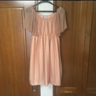 ユナイテッドアローズ(UNITED ARROWS)のユナイテッドアローズ パーティー用ピンクドレス レディースSサイズ(ミディアムドレス)