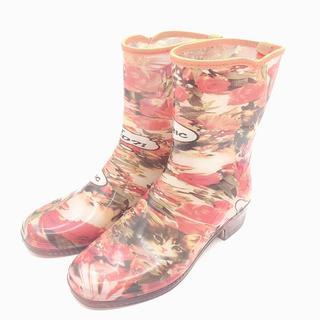 ヒステリックグラマー(HYSTERIC GLAMOUR)のヒステリック グラマー 長靴 レインブーツ 靴 S 22-22.5 S オレンジ(レインブーツ/長靴)