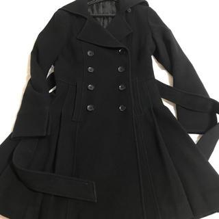 スーツカンパニー(THE SUIT COMPANY)の【値下げ】 黒コート ベルト付き(ロングコート)