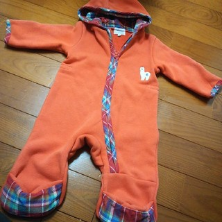 ハッカベビー(hakka baby)のハッカベビー ジャンプスーツ ロンパース 裏起毛 80 90(ジャケット/コート)