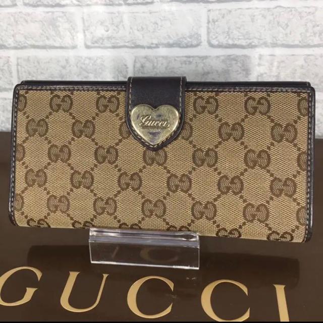 m g c アクセサリー 、 Gucci - 綺麗✨可愛い❤️GUCCI 長財布 キャンバス レザー ハートロゴの通販 by ☆りんごぱい☆'s shop