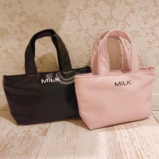 ミルク(MILK)の【新品未使用】MILK ロゴポーチ 黒(ポーチ)