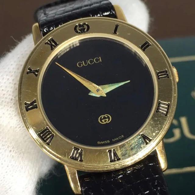 アクセサリー 男 | Gucci - ほぼ未使用✨オールドグッチ GUCCI 腕時計 レディース パイソン ブラックの通販 by ☆りんごぱい☆'s shop