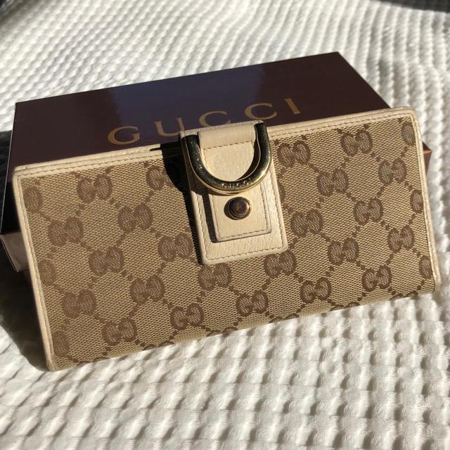 Gucci - 素敵❤️GUCCI キャンバス ホワイト 長財布 GGの通販 by ☆りんごぱい☆'s shop