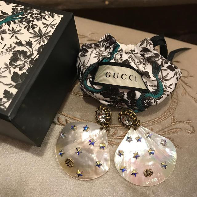 赤ちゃん 椅子 ベルト - Gucci - GUCCI グッチ ピアス  シェル レア物 星 箱付きの通販 by gracias's shop