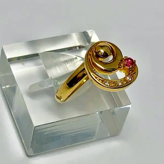 ポンテヴェキオ(PonteVecchio)の  K18 揺れる ルビー,ダイヤモンド リング (リング(指輪))