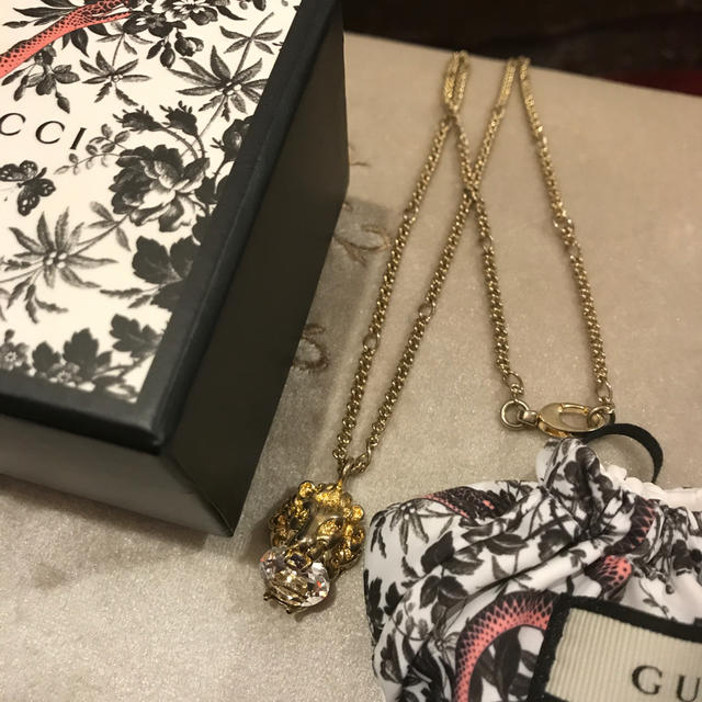 gt r アクセサリー | Gucci - GUCCI グッチ ネックレス ライオンヘッド 箱付きの通販 by gracias's shop