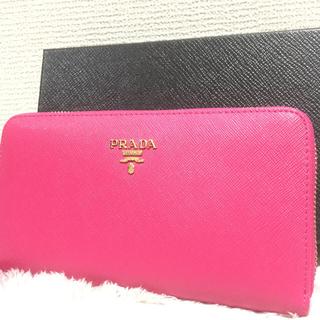 プラダ(PRADA)のPRADA プラダ 長財布 ピンク(長財布)