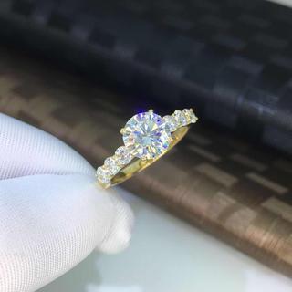 【newカラー】輝く モアサナイト ダイヤモンド リング(リング(指輪))