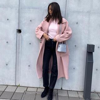 LOUNIE - タグ付き新品未使用 今期 ロングチェスターコート くすみピンク