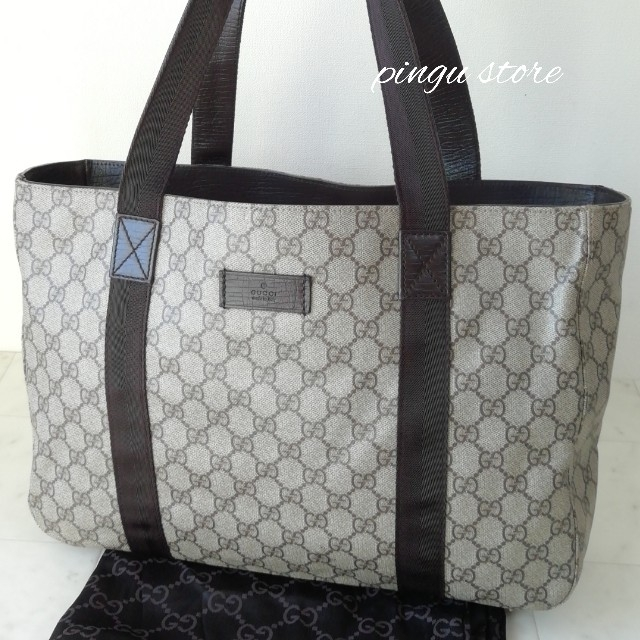 Gucci - 【美品 正規品】グッチ トートバッグ PVCの通販 by ピングー☆'s shop