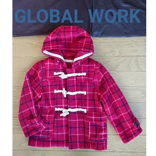 グローバルワーク(GLOBAL WORK)のチェック ダッフルコート 100 110 GLOBAL WORK キッズ(コート)