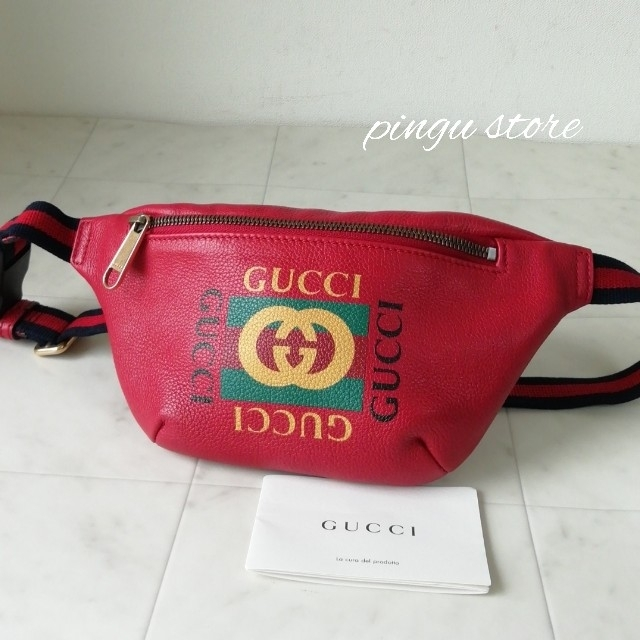 Gucci - 【超美品 正規品】グッチ ウエストバッグの通販 by ピングー☆'s shop