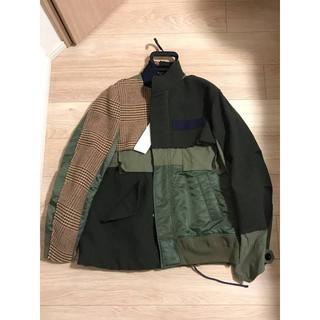ラフシモンズ(RAF SIMONS)のsacai 18aw combo fabric bloson jacket(ミリタリージャケット)