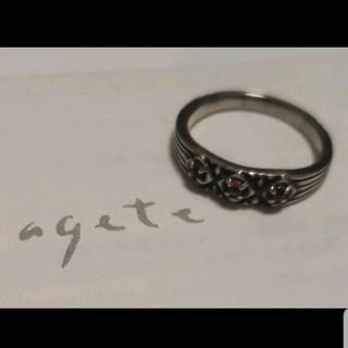 アガット(agete)のアガット リング シルバー ロードライトガーネット 5号 ガーネット ピンキー(リング(指輪))