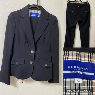バーバリーブルーレーベル(BURBERRY BLUE LABEL)の美品 バーバリーロンドン ブルーレーベル セットアップ  スーツ(スーツ)