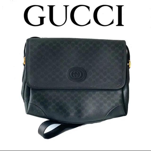 laura b アクセサリー / Gucci - GUCCI グッ� gg柄 ショルダー�ッグ ロゴ オールブラック 黒�通販 by ayaringo's shop