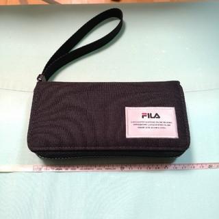 フィラ(FILA)のFila Fusion フィラ 長財布 ウォレット 黒 ブラック(長財布)