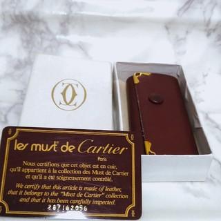 カルティエ(Cartier)の【箱 カード付】Cartier カルティエ キーケース 4連 レザー(キーケース)