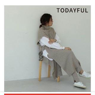 トゥデイフル(TODAYFUL)の【完売】タートルロングニットベスト人気(ニット/セーター)