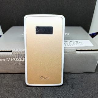 エヌイーシー(NEC)の【中古】モバイルWi-Fiルーター NEC Aterm MP02LN ゴールド(PC周辺機器)