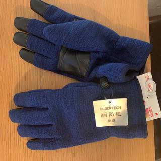 ユニクロ(UNIQLO)のヒートテックフリース 手袋 メンズM 新品未使用(手袋)