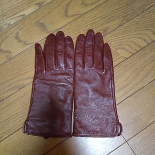 ザラ(ZARA)のエイチアンドエム明るいブラウンレザーミトンMsize未使用😋(手袋)