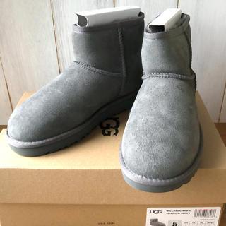 アグ(UGG)の★新品正規品★グレー22cm UGG アグ クラシックミニⅡ ムートンブーツ(ブーツ)