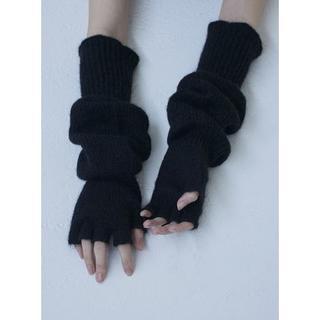 アパルトモンドゥーズィエムクラス(L'Appartement DEUXIEME CLASSE)の1万7280円 TAN タン ニット フィンガーレス 手袋 グローブ(手袋)