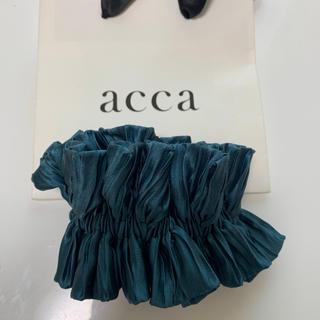 アッカ(acca)の最終価格◆美品◆acca シルクシュシュ ヘアアレンジ (ヘアゴム/シュシュ)