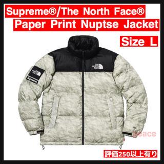 シュプリーム(Supreme)の【L】Supreme Paper Print Nuptse Jacket(ダウンジャケット)
