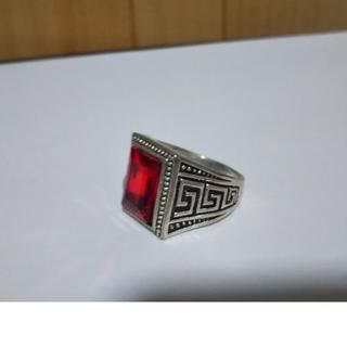 指輪 シルバー リング  30号 赤い石(リング(指輪))