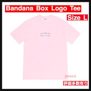 シュプリーム(Supreme)の【L】Bandana Box Logo Tee(Tシャツ/カットソー(半袖/袖なし))