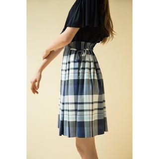 ブラックレーベルクレストブリッジ(BLACK LABEL CRESTBRIDGE)のBLUE LABEL♡サイドリボンチェックスカート(ひざ丈スカート)