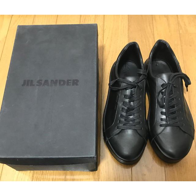 Jil Sander(ジルサンダー)の新品未使用 ジルサンダー スニーカー ブラック 黒 jil sander 41 メンズの靴/シューズ(スニーカー)の商品写真