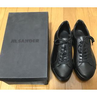 ジルサンダー(Jil Sander)の新品未使用 ジルサンダー スニーカー ブラック 黒 jil sander 41(スニーカー)