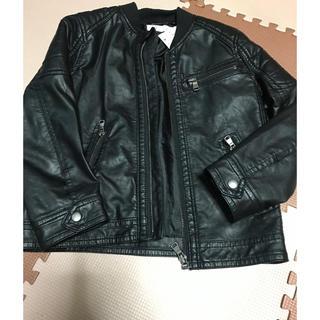 エイチアンドエム(H&M)のライダース レザージャケットキッズ H&M(ジャケット/上着)
