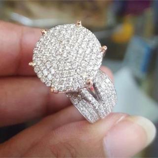 ハイクオリティ レディース ホワイトサファイアリング 指輪ジュエリーファッション(リング(指輪))