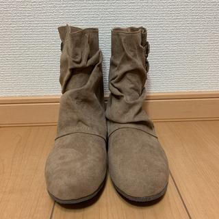 NIGHT ONE ベルト付きナウシカブーツ ショートブーツ スウェードSサイズ(ブーツ)
