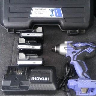 ヒタチ(日立)の【日立工機】インパクトドライバーセット バッテリー3個(その他)