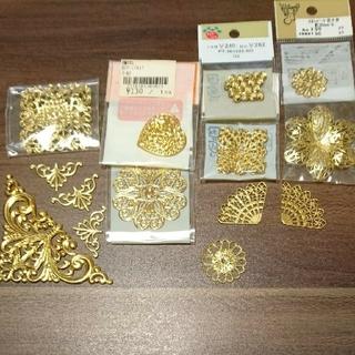 キワセイサクジョ(貴和製作所)のゴールド透かしパーツセット(各種パーツ)