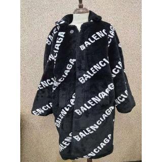 バレンシアガ(Balenciaga)のBALENCIAGA フェイクファー ビッグ フィット コート(毛皮/ファーコート)