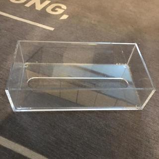 ムジルシリョウヒン(MUJI (無印良品))の無印 クリアティッシュケース (ティッシュボックス)
