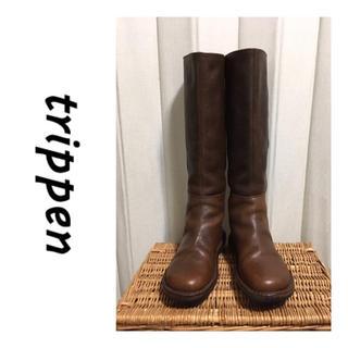 トリッペン(trippen)のTrippen/トリッペン/ロングブーツ/タワー TOWER/ブラウン/35(ブーツ)