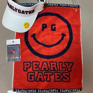 パーリーゲイツ(PEARLY GATES)のパーリーゲイツ サンバイザー・クラブタオル・ボールマーク(サンバイザー)