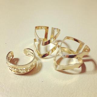 ザラ(ZARA)のGold Ring 3点 ラスト1点(リング(指輪))