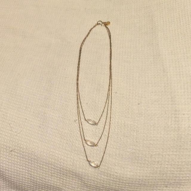 IENA SLOBE(イエナスローブ)の3連ネックレス レディースのアクセサリー(ネックレス)の商品写真