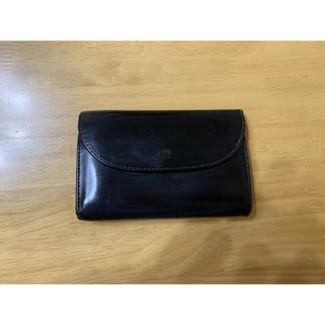 WHITEHOUSE COX(ホワイトハウスコックス)のホワイトハウスコックス 三つ折 財布  S7660 ブラック メンズのファッション小物(折り財布)の商品写真